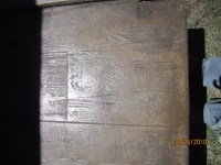 Wood concrete stamp