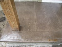 Wood plank stamp for porch