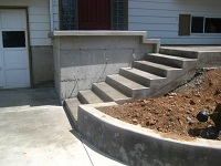 Foundation and steps